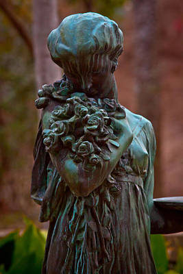 Graveyard Digital Art - The Bronze Angel by Linda Unger