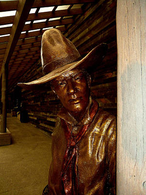Cowboy Hat Photograph - The Bronze Cowboy by David Patterson