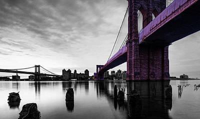 Roebling Bridge Digital Art - The Brooklyn Bridge by Brian Reaves