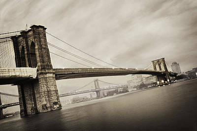 Brooklyn Bridge Photograph - The Brooklyn Bridge by Eli Katz
