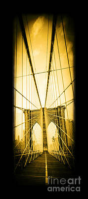 Striking Photograph - The Brooklyn Bridge New York by Edward Fielding