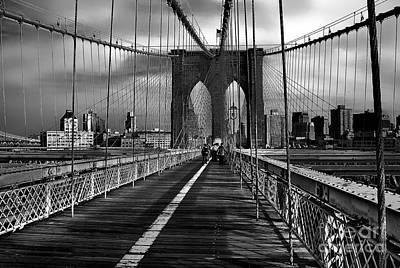 Photograph - The Brooklyn Bridge - New York City by Carlos Alkmin