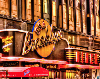 Photograph - The Brooklyn Diner And Cafe 001 by Jeff Stallard