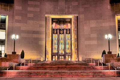 Photograph - The Brooklyn Public Library by JC Findley