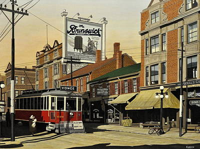 Painting - The Brunswick 1916 by Kenneth M  Kirsch