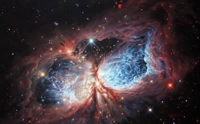 Painting - The Brush Strokes Of Star Birth by Lucy West