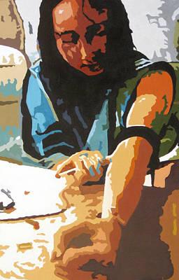 The Brutal Unconsciousness  La Brutal Inconciencia Art Print by Fernando A Hernandez