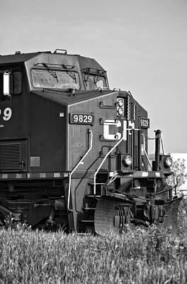 Cp Rail Photograph - The Brute Monochrome by Steve Harrington