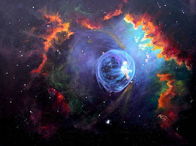 Nebula Painting - The Bubble by Marie Green