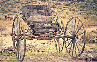 Photograph - The Buckboard Bounce Where West Is West Vintage by Lee Craig