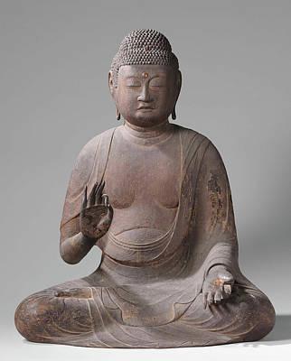 Buddha Drawing - The Buddha Amida, Anonymous by Quint Lox