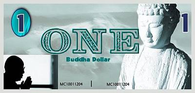 Currency Mixed Media - The Buddha Dollar by Mario Carini
