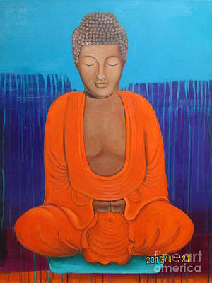 Mixed Media - The Buddha by Elaine Callahan