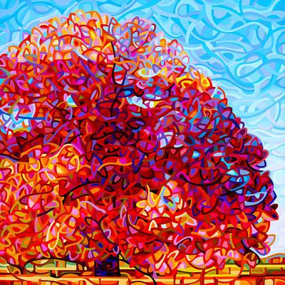 Abstract Tree Painting - The Buddha Tree by Mandy Budan