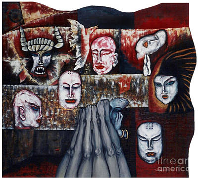 Art Print featuring the painting The Buddhism Conception And The Human World by Fei A
