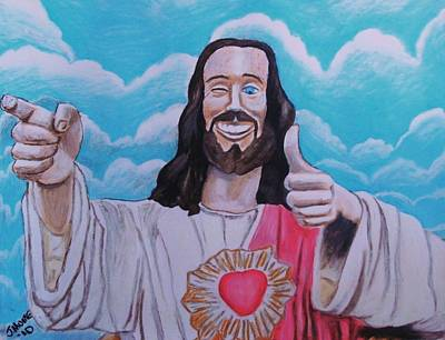The Buddy Christ Art Print by Jeremy Moore