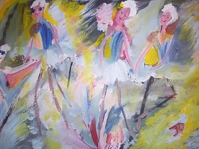 The Budget Ballet Company Art Print by Judith Desrosiers