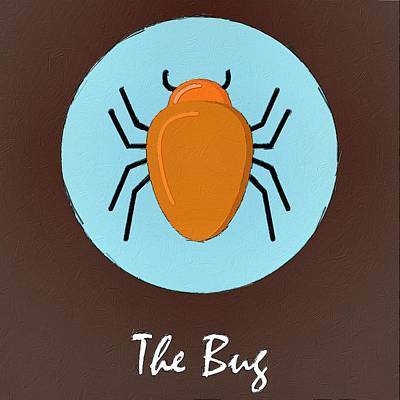 Painting - The Bug Cute Portrait by Florian Rodarte