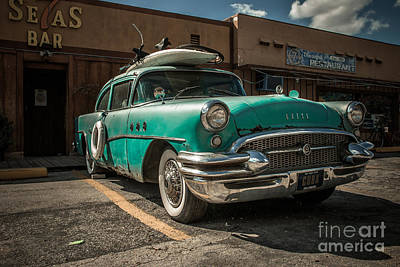 The Buick II - Ready To Surf Art Print by Hannes Cmarits