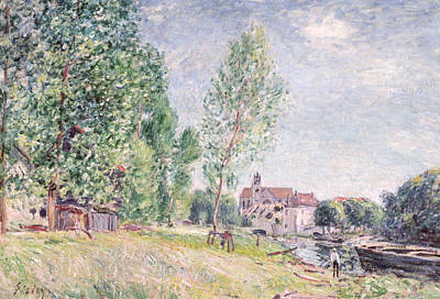 Moret Painting - The Builder's Yard At Matrat Moret-sur-loing by Alfred Sisley