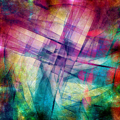 Abstract Forms Digital Art - The Building Blocks by Angelina Vick