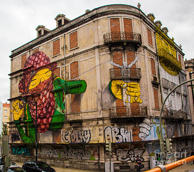 Photograph - The Building Canvas Of Graffiti by Rene Triay Photography