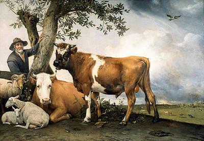 Potter Digital Art - The Bull  by Paulus Potter