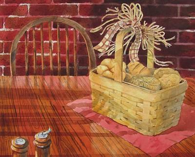 Painting - The Bun Basket by Tony Caviston