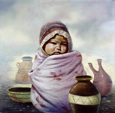 Indian Fine Art Painting - The Bundle by Gregory Perillo