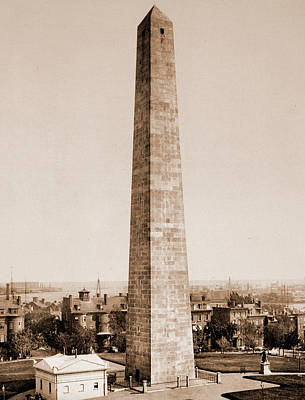 Bunker Hill Drawing - The Bunker Hill Monument, Monuments & Memorials, United by Litz Collection