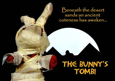 Cute Photograph - The Bunny's Tomb by Piggy