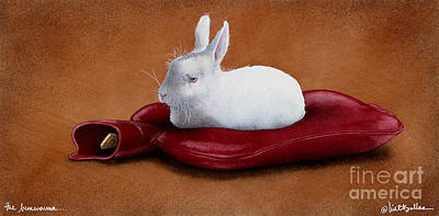 White Rabbit Painting - The Bun Warmer... by Will Bullas