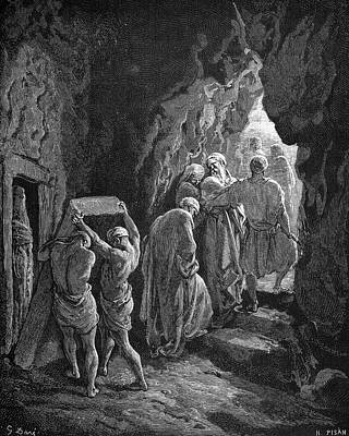 Drawing - Burial Of Sarah by Gustave Dore