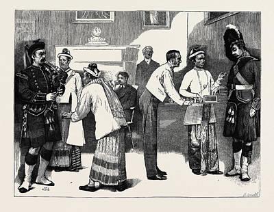 Burmese Python Drawing - The Burmese Ambassadors At Edinburgh Castle by English School