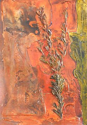 Plant Mixed Media - The Burn - Panel I by Sandra Gail Teichmann-Hillesheim