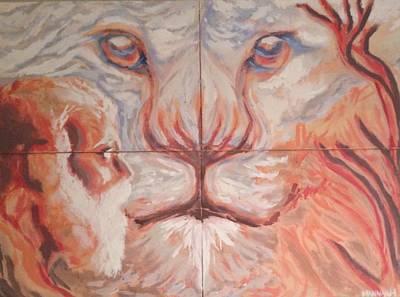 The Lion Said Go Back To Egypt Art Print by Mannaah Blackwell