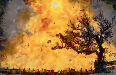 Manipulation Photograph - The Burning Bush by Mario Carini