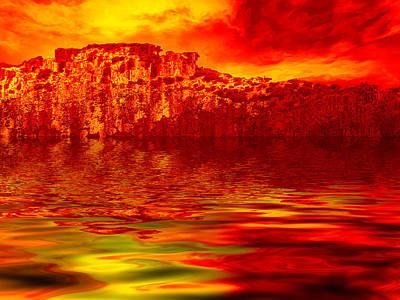 Burnt Digital Art - The Burning Zone by Wendy J St Christopher