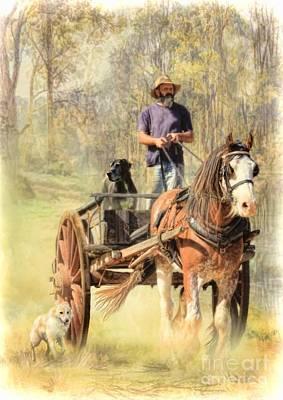 Great Dane Digital Art - The Bushmans Track by Trudi Simmonds