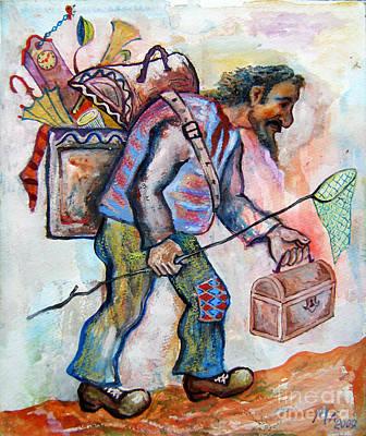 The Butterfly Hunter Art Print by Milen Litchkov