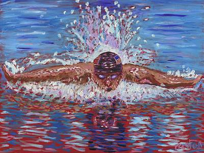 Olympic Gold Medalist Painting - The Butterfly by Preston Sandlin