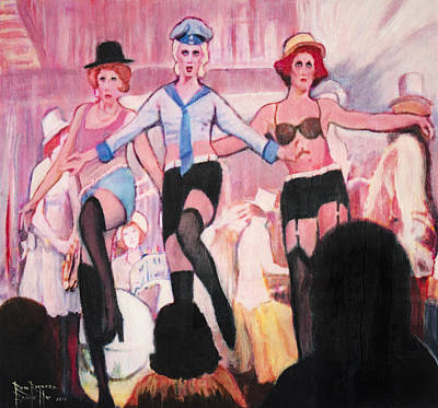 Painting - The Cabaret Girls by Ron Richard Baviello