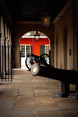 Gas Lamp Quarter Photograph - The Cabildo by Beth Vincent