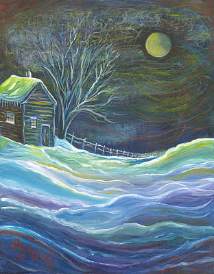 The Cabin Art Print by Beckie J Neff