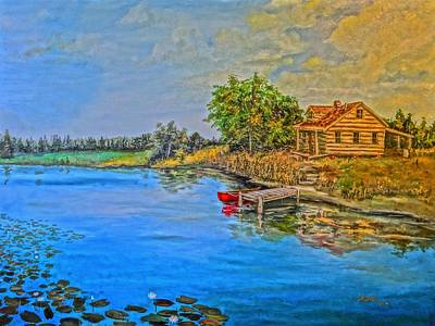 Painting - The Cabin II by Alan Lakin