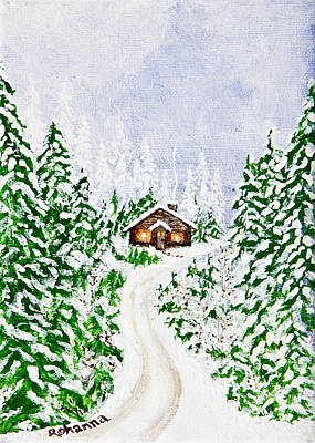 Painting - The Cabin by Judy M Watts-Rohanna