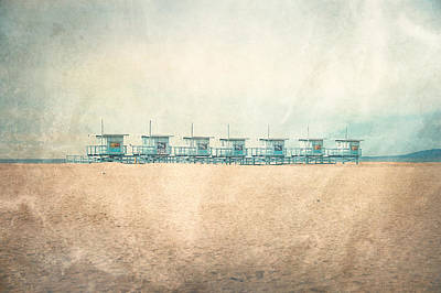 Beach Landscape Photograph - Venice Cabins by Nastasia Cook