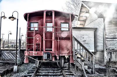 The Caboose Print by Bill Cannon