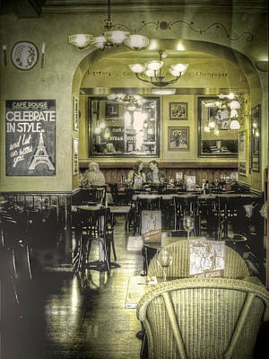 Vintage Wine Lovers Photograph - The Cafe by Janet Meehan