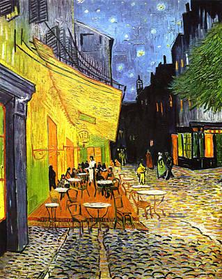 The Cafe Terrace On The Place Du Forum Art Print by Vincent van Gogh